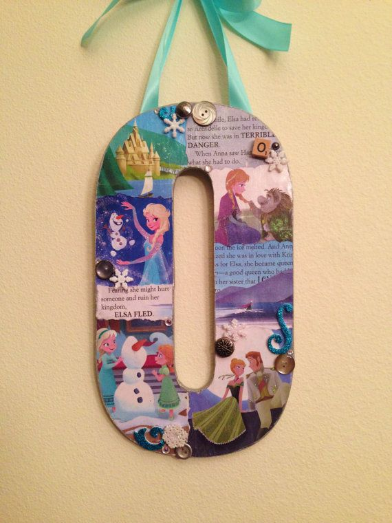 Letter O Any Theme Disney wooden letter 11 by SpikaInteriors