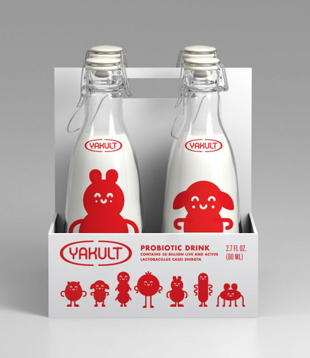 Yakult packaging.
