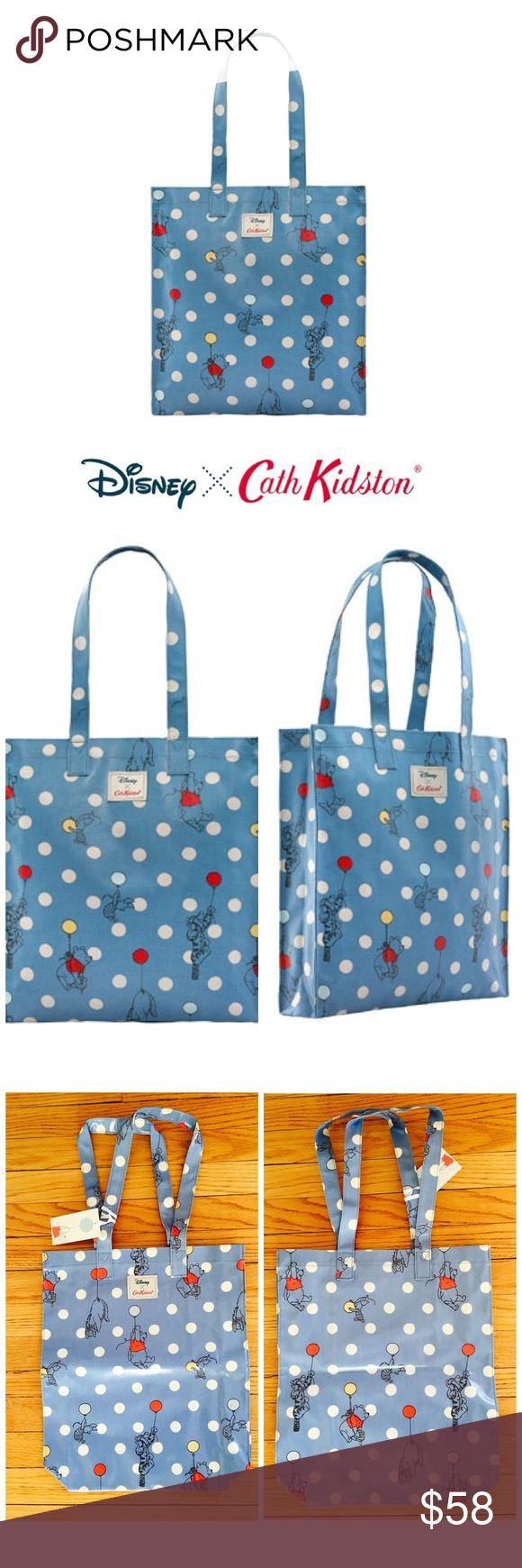 Rare Cath Kidston Disney Winnie the Pooh Spot Bag Brand new, limited edition Cath Kidston x Disney Winnie the Pooh Spot Bag.   The perfect pick-me-up from our limited edition Winnie-the-Pooh x Cath Kidston collection, this over-the-shoulder book bag is made from durable oilcloth printed with Pooh and the gang plus our classic spots and has an internal pocket for essentials. Limited edition. Completely sold out online and in stores.   1 Internal open pocket Over-the-shoulder handles Shiny…