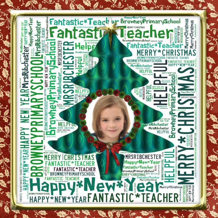 Card for the teacher using Tagxedo and Serif Craft Artist