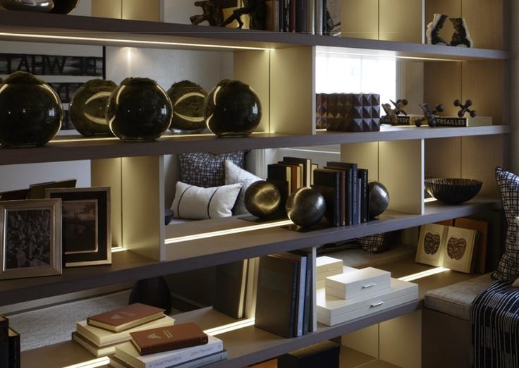 Helen Green Design London. Bespoke shelves