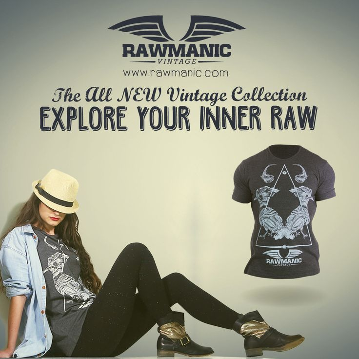 Love this hipster edge with the Vintage line by Rawmanic! Very cute, Unisex tees found on Rawmanic's website, be sure to check them all out :D