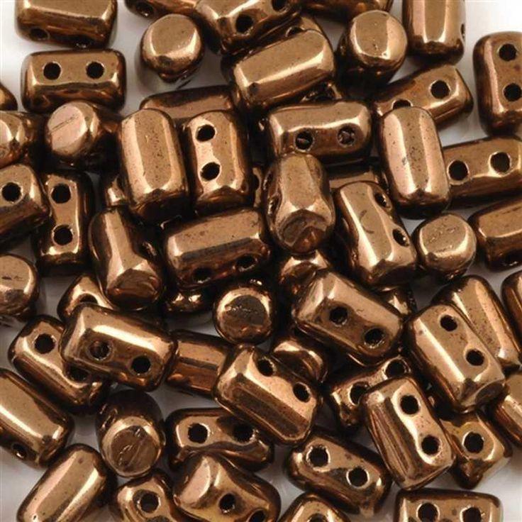 Seed Beads-3x5mm Rulla-Jet Bronze Luster-Czech-7 Grams