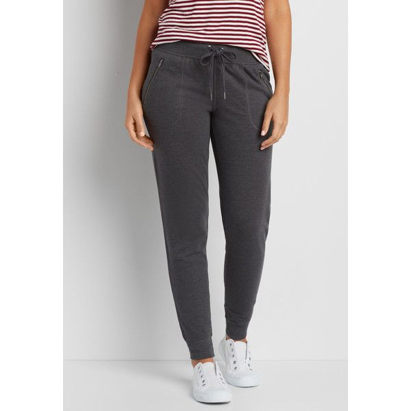 maurices Fleece Jogger Sweatpant With Zip Pockets, Women's, ($29) ❤ liked on Polyvore featuring activewear, activewear pants, fleece jogger sweatpants, zipper pocket sweatpants, jogger sweatpants, fleece sweatpants and jogger sweat pants