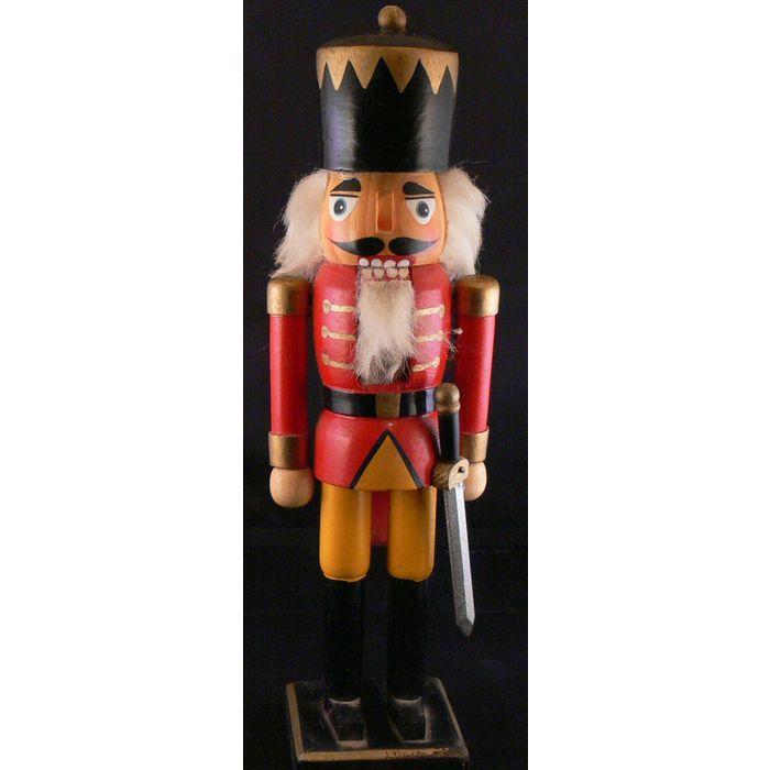 12 Inch Wooden Nutcracker Soldier Figurine On Ebid United Kingdom