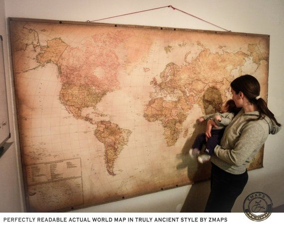 102 best best wall maps from the old world zmaps images on super size modern world map 2017 push pin travel map 90 x 55 230 x 140 cm school chart hanging map canvas hidden frame z maps gumiabroncs Gallery