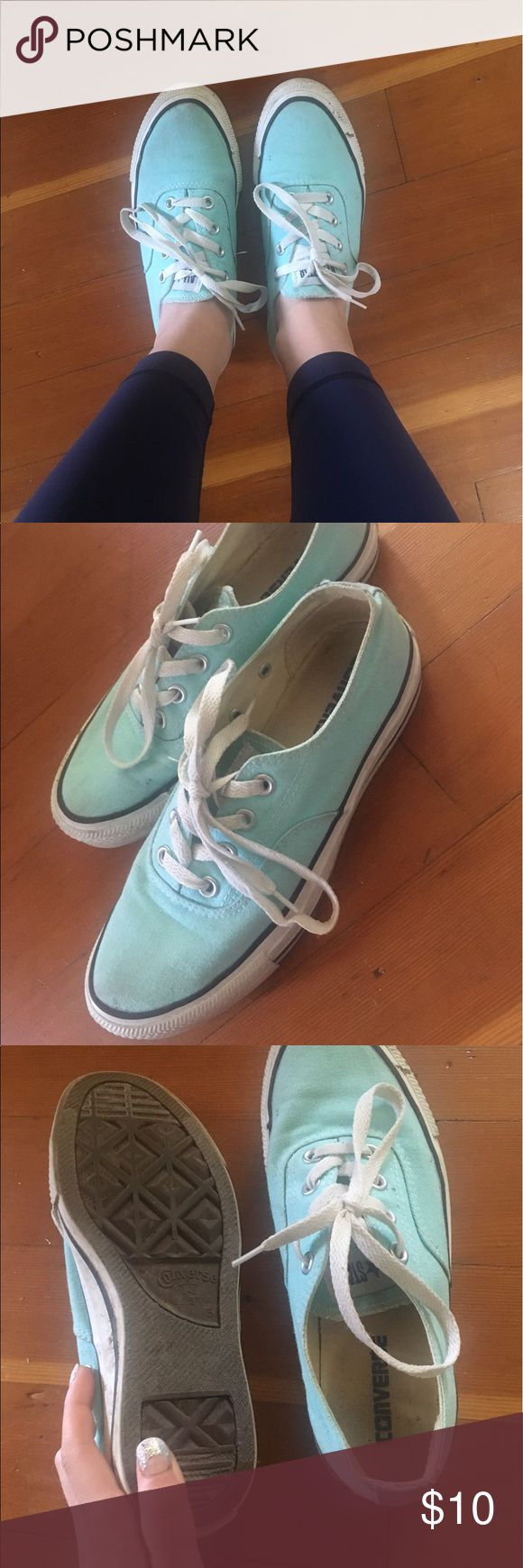 Teal Vans Style Converse Great condition. Could use a little wash but I only wore these a couple times. Converse Shoes Sneakers