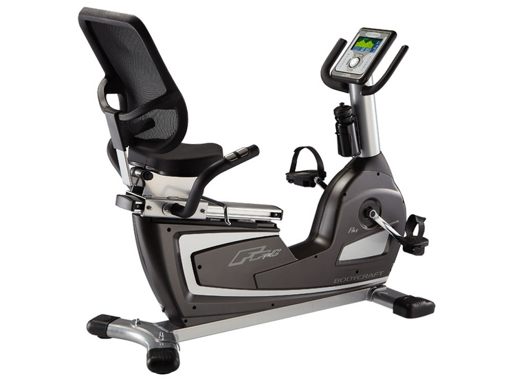 Bodycraft R25 Semi-Recumbent Exercise Bike The BODYCRAFT R25 is a remarkable semi-recumbent bike! Its small size belies the commercial quality construction. Its easy-to-use, two-color display provides 3 Heart Rate Controlled Programs (Chest telemetry strap included), 12 Preset Programs, Manual operation, and 4 Memory Banks so you can custom-design your own workouts. Infinitely adjustable to fit almost every size user, yet only 48 inches long! Visit www.bodycraft.com