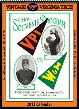 2013 Vintage Virginia Tech Hokies Football Calendar