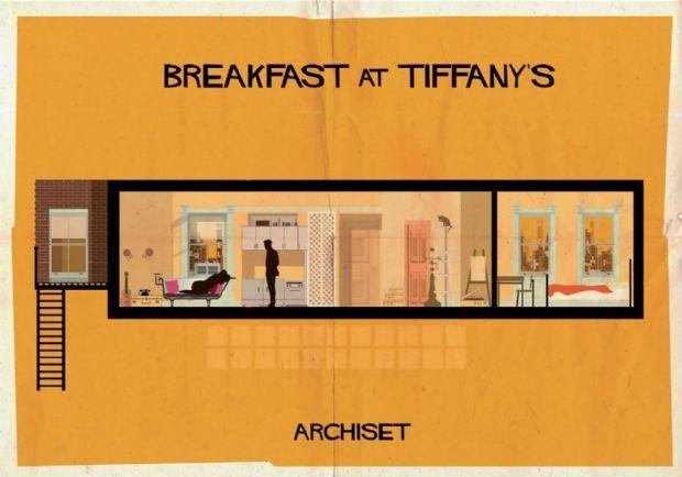 O arquiteto e designer gráfico italiano Federico Babina criou uma série de cartazes de cinema com ilustrações das obras arquitetônicas dos filmes | aU - Arquitetura e Urbanismo