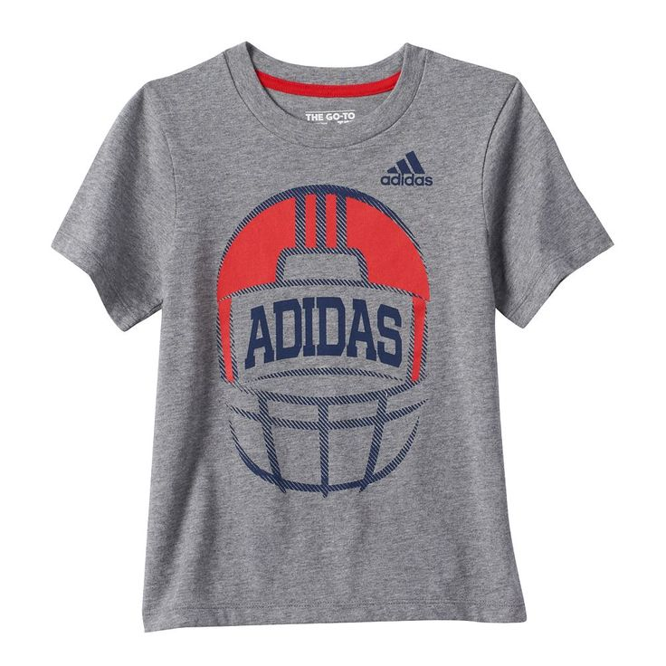 Boys 4-7x Adidas Football Graphic Tee, Size: 4, Dark Grey