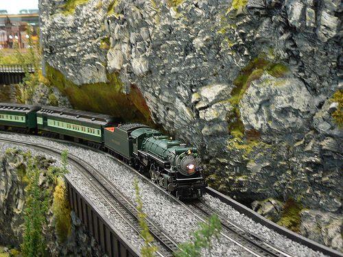 model railroad mountain