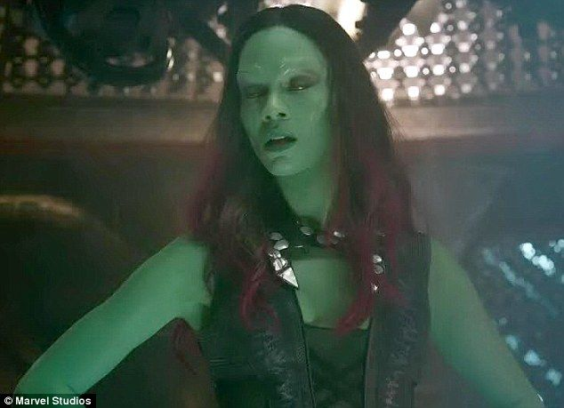 Zoe Saldana utters first lines as Gamora in new Marvel ...