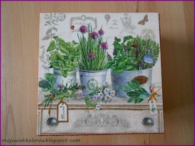 Mój świat kolorów...: Herbaciarka...