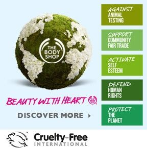 The Body Shop - wow, what a company! Starting with no animal testing on any products, but that's just the start of it. They raised over 2million to fight sex trafficking, only use fair trade products from small businesses around the world in making their products and containers, and so much more. Check them out!