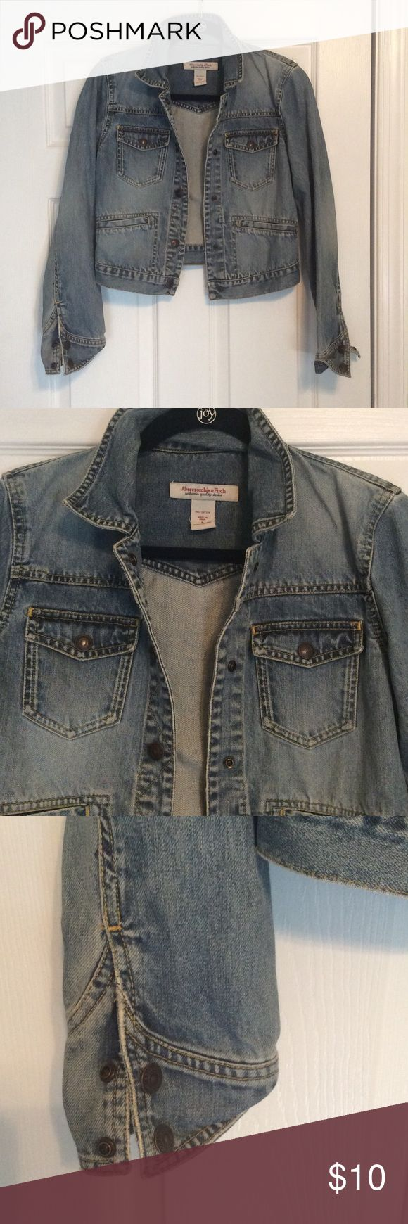 Abercrombie Jean Jacket Abercrombie and Fitch Jean Jacket. Great conduction. Abercrombie & Fitch Jackets & Coats Jean Jackets