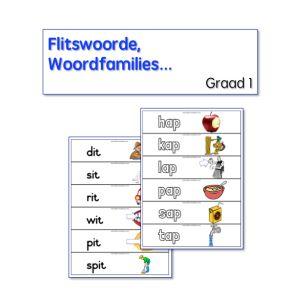 rym, woordfamilies, flitskaarte, Graad 1