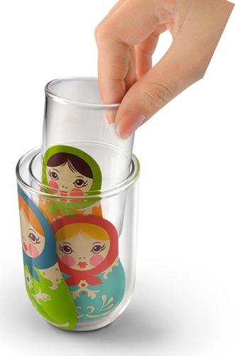 TRIO OF BABUSHKUP NESTING GLASSES (SET OF 3)