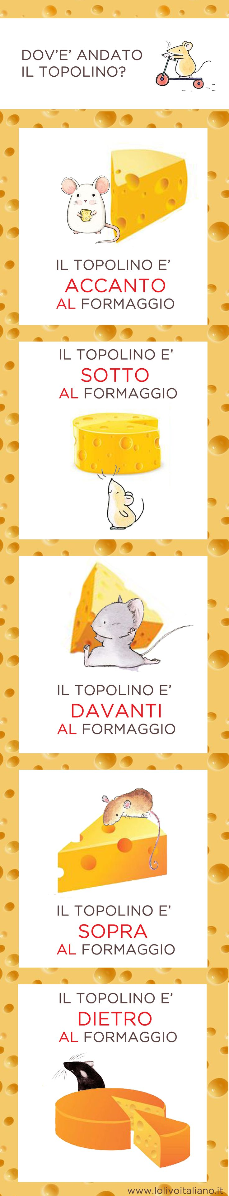 Dov'è andato il topolino? Scopriamo insieme come si esprime in italiano la posizione!