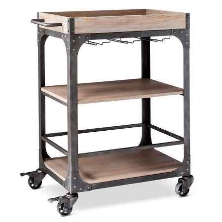 LOVE this industrial bar cart and it's such a good deal!  (affiliate)