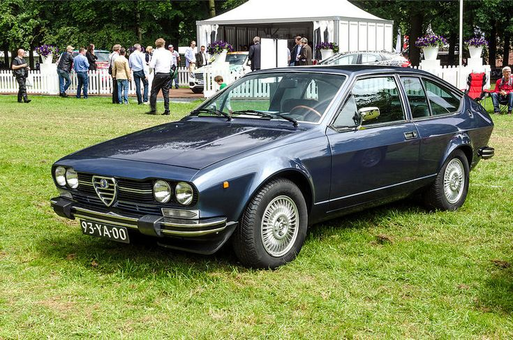 Alfa Romeo Alfetta 2000 GTV; our was red & we actually repainted it in this same color...