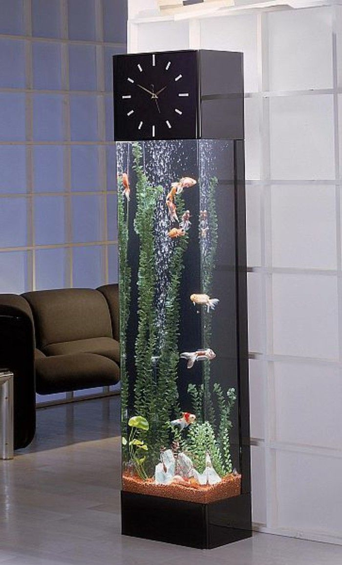 l aquarium mural en 41 images inspirantes aquariums pinterest meuble aquarium pas cher. Black Bedroom Furniture Sets. Home Design Ideas