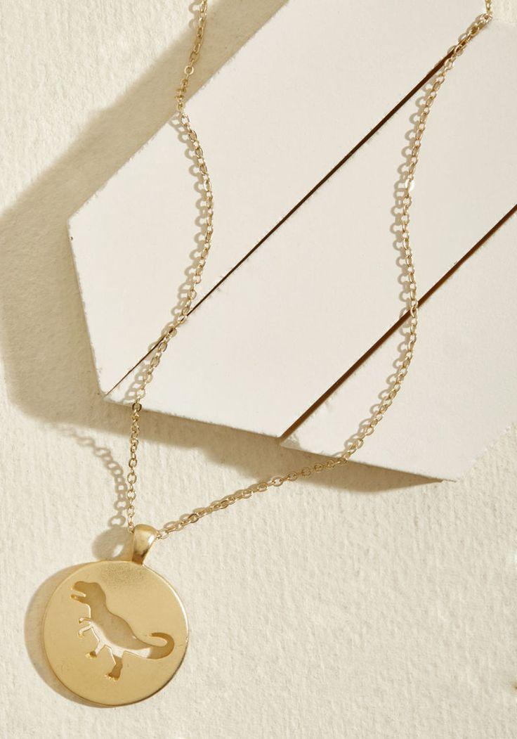 Shining Dino Pendant Necklace