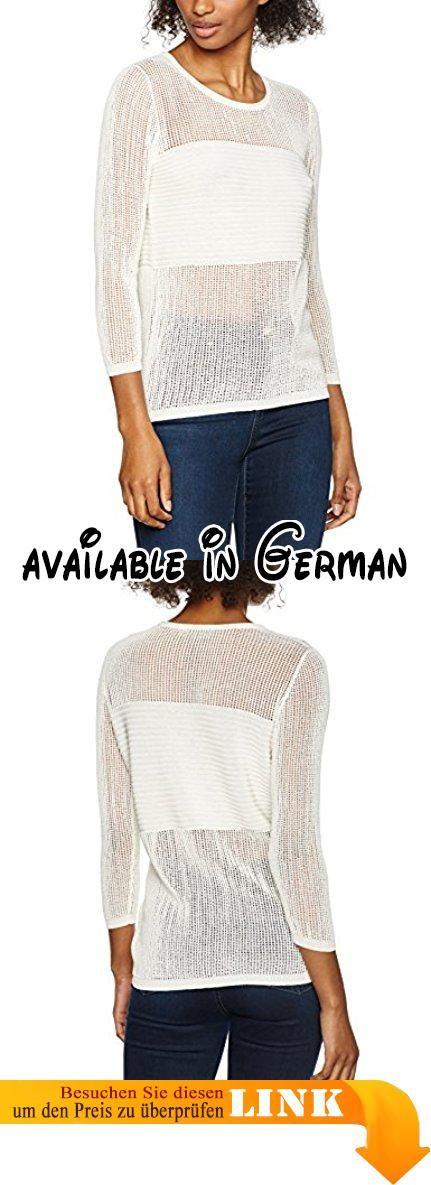 Liebeskind Berlin Damen Regular Fit Langarmshirts S1174500 mesh, Einfarbig, Gr. Large, Beige (ecru F 8001).  #Apparel #SHIRT