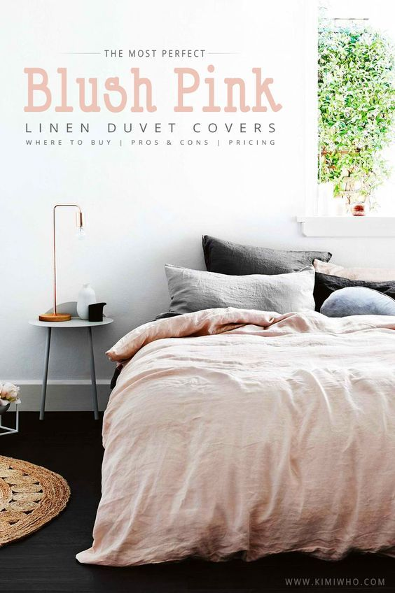 In Search of the Perfect Blush Pink Bedding Set - Linen Duvet covers, where to buy them, prices, and pros & cons!