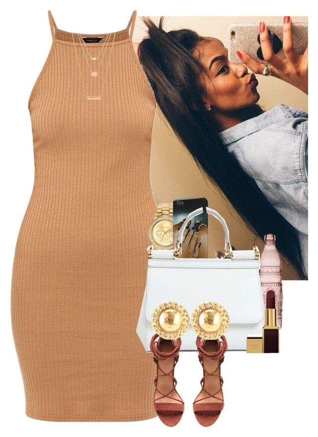 """""""👑Brown Barbie👑"""" by muvaaliyah ❤ liked on Polyvore featuring Mestige, Baci, Dolce&Gabbana, Tom Ford, Chanel and Forever 21"""