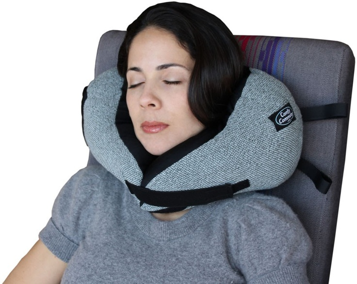 Comfy Commuter Ultimate Travel Neck Pillow, using ...