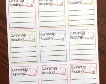 Lettura sfida Planner Adesivi  Stickers Planner  secchio