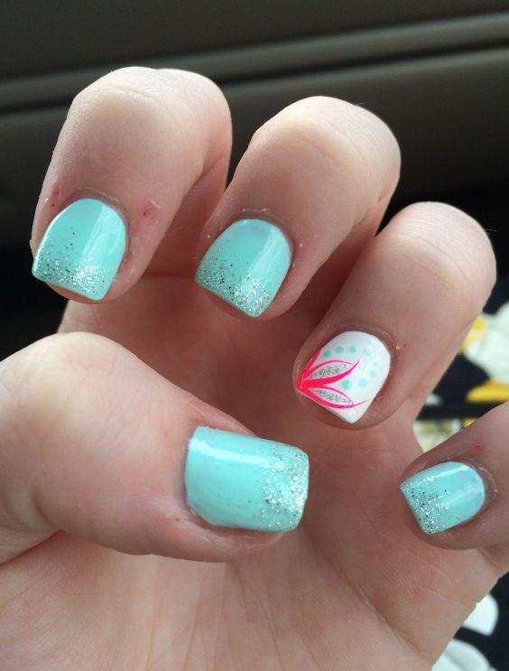 super easy summer nail art design