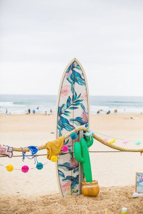 Our custom, island-inspired Billabong Women's surfboard || A classic favorite print