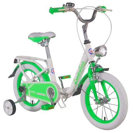 Vehicule pentru copii :: Biciclete si accesorii :: Biciclete :: Bicicleta copii pliabila Lambrettina green 14 ATK Bikes