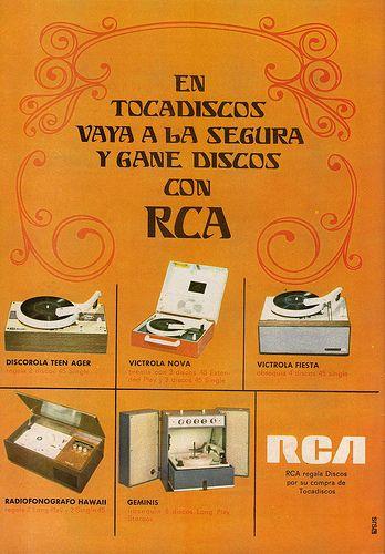 Anuncio de Tocadiscos RCA