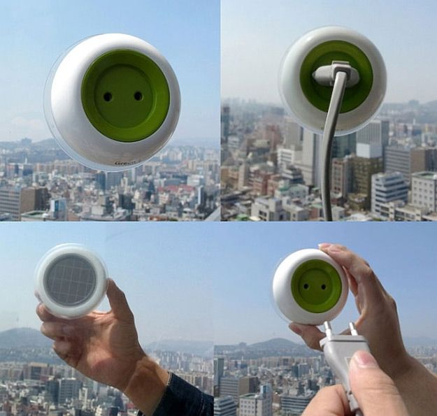 Solar Plug Socket | 20 Incredible Solar Powered Inventions | Cool Off the Grid Solar Power System. check it out at http://pioneersettler.com/new-solar-powered-inventions/
