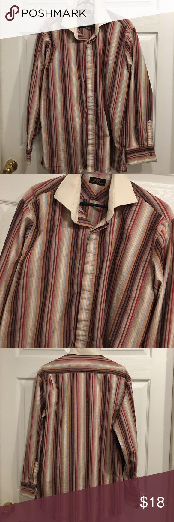 Steven Land shirt Steven land men's shirt size 16 1/2. (34-35). Like new condition 100% cotton Steven Land Shirts Casual Button Down Shirts