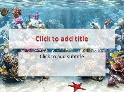 Simple and special nature template, aquariums world background, special background for title slide, default and standard font, custom title text with word art style, compatible for many kind presentation, easy to use. An aquarium with simple bubble animated, that runs smoothly over the slides. If you wanna presentation about nature, expecially about aquarium or ocean you must download this template.