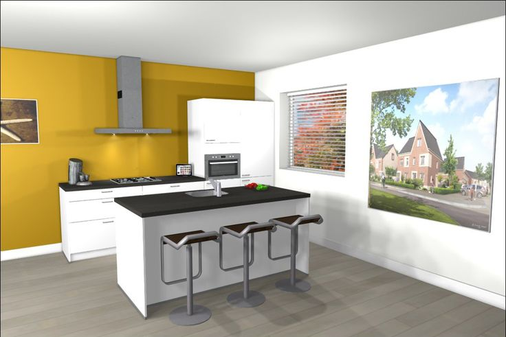 Ontwerp van keuken met kookeiland eiland keukens pinterest keuken ontwerp en keukens - Keuken kookeiland ontwerp ...