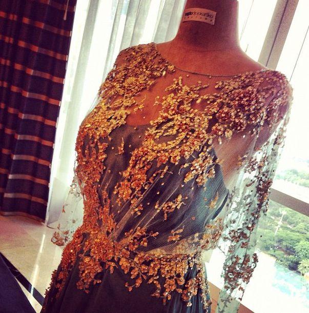 Dress by Sapto Djojokartiko (Indonesian Designer)