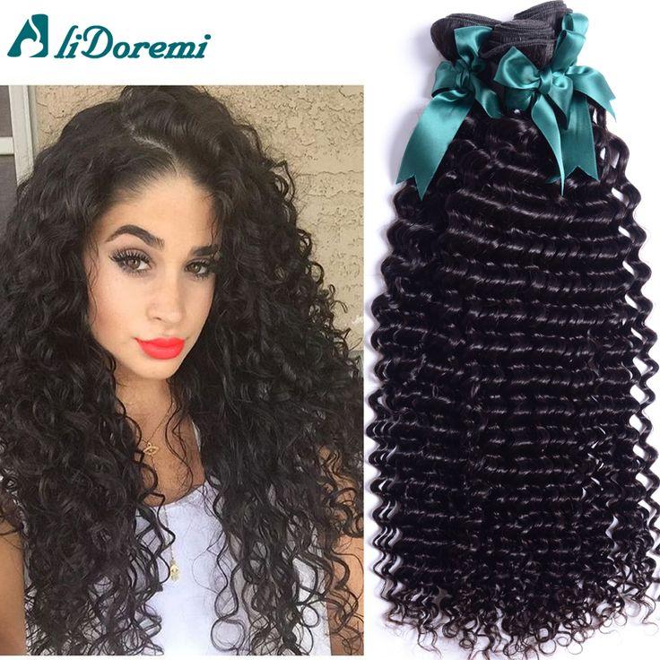 Brasileño de la virgen rizada del pelo teje 4 bundles bruto virgen onda profunda brasileña del pelo rizado barato virginal brasileña del pelo