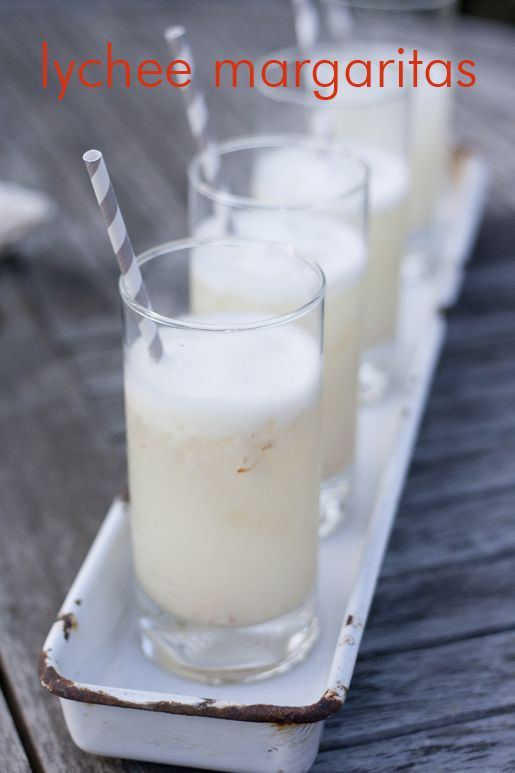 Lychee margaritas. Could they be just as delicious as my personal fave lychee sake?....