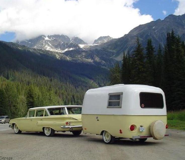 1960 chevy in 2020 vintage travel trailers vintage
