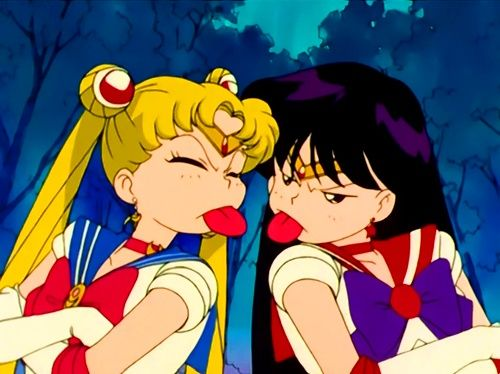 "Day 4 - ""best friendship?"": Sailor Moon and Sailor Mars. They spend most of their time yelling at each other, but they care about each other like no other"