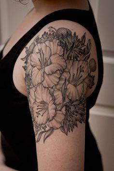 Más de 1000 ideas sobre Tatuaje De Gladiolo en Pinterest | Tatuajes ...