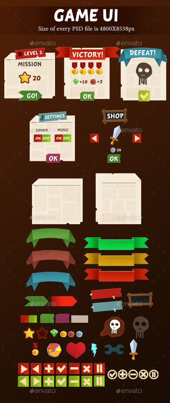 #Game UI - User Interfaces Game Assets Download here: https://graphicriver.net/item/game-ui/19994863?ref=alena994