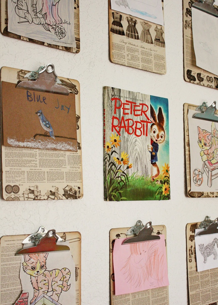 spruce up clipboards with vintage papers...