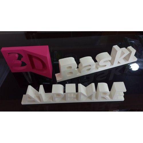 3D Baskı İsimlik