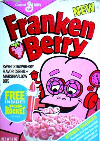 Frankenberry ~~~ I just had to have this cereal and then what did I do? I proceeded to eat EVERY marshmallow in the box! I was sick all night long and have NEVER eaten strawberry flavored anything since. It's been over 4 decades, and counting. ;)